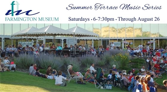 Summer Terrace Music Series at the Farmington Museum. Saturdays, 6-7:30pm through August 26.