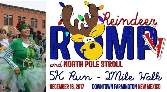 Reindeer Romp 5K & 2-mile North Pole Stroll in Downtown Farmington on December 16.