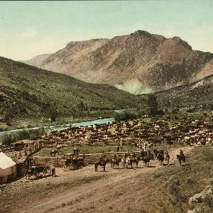 Round up on the Cimarron (Colorado), c1898 (Library of Congress)