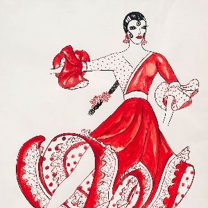 FLAMENCO-Rodarte-costume-sketch