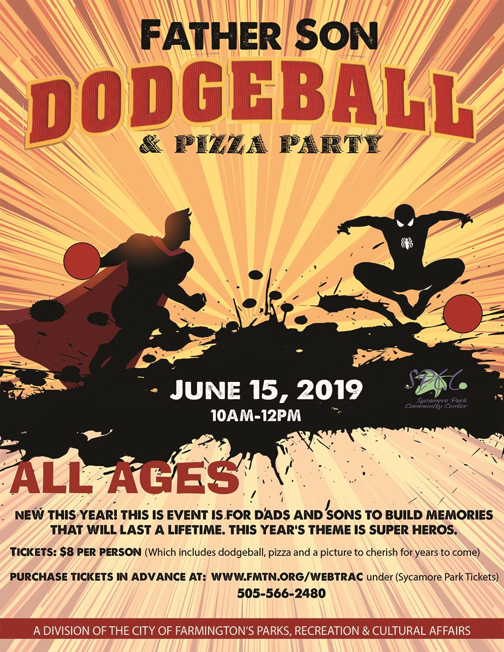 Father Son Dodgeball flyer