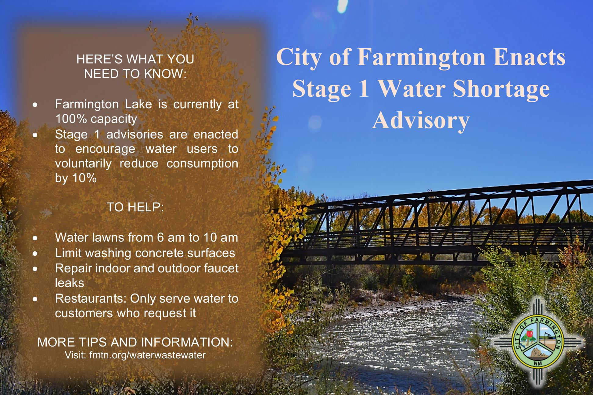 Stage 1 Water Advisory