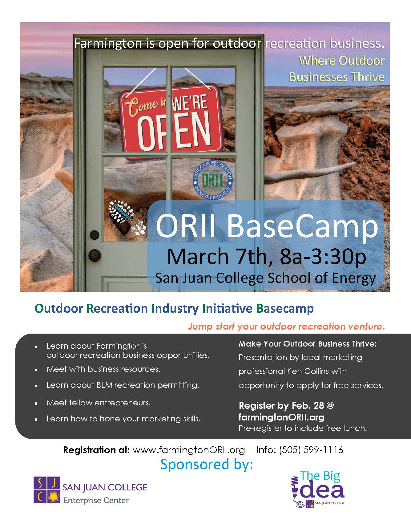ORII Base Camp Flyer