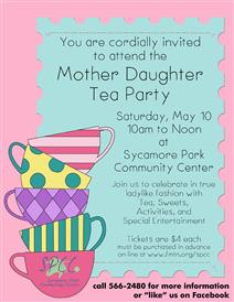 Mother Daughter Tea Flyer