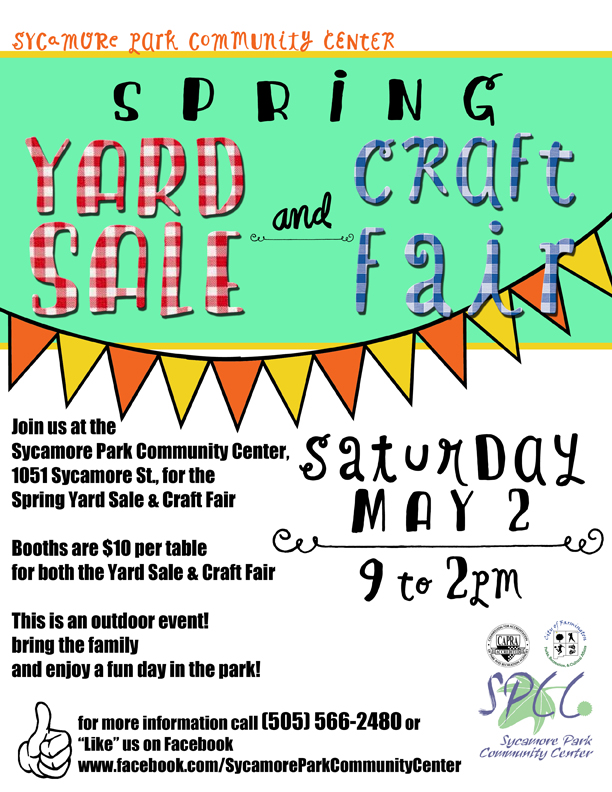 Spring Yard Sale and Craft Fair Poster