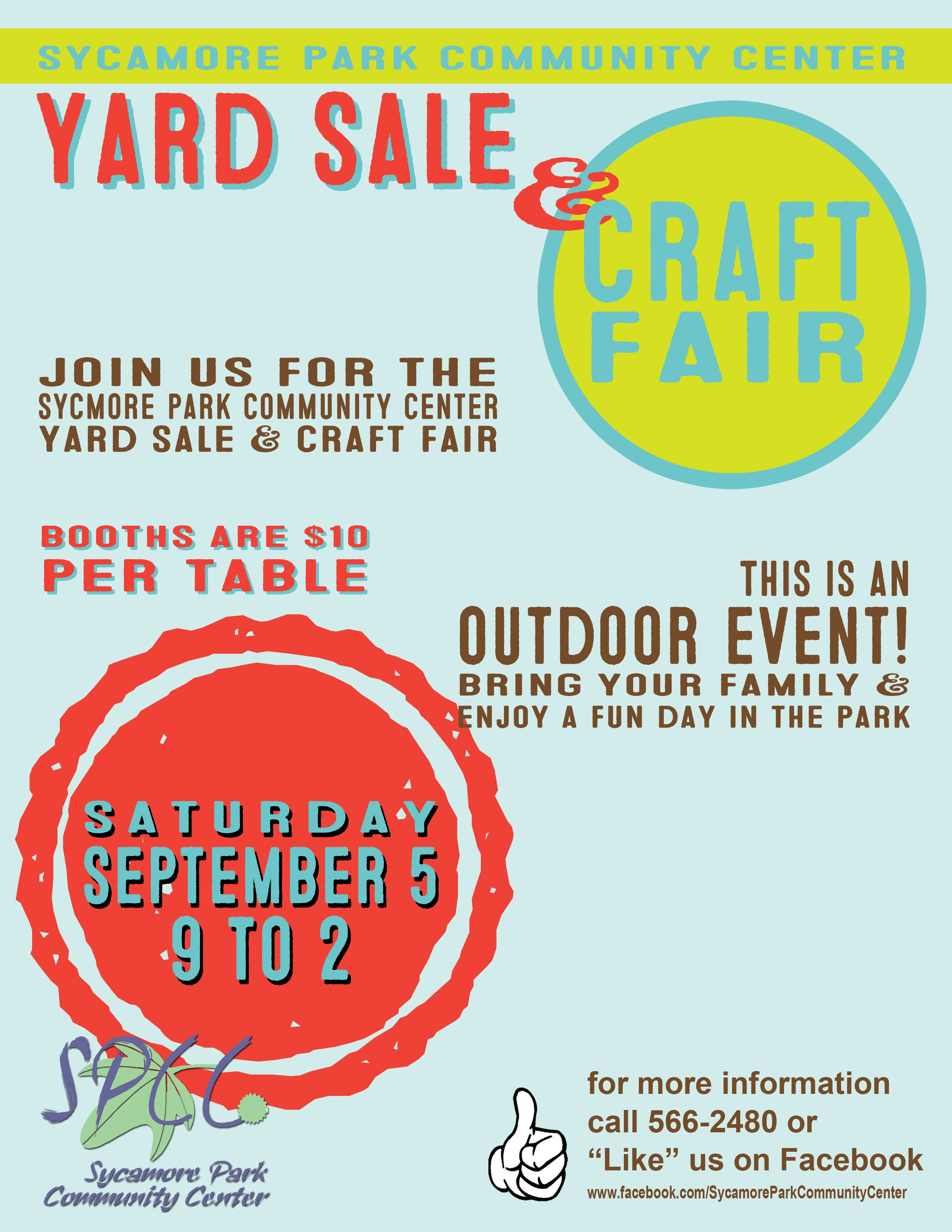 Community Yard and Craft Fair Poster