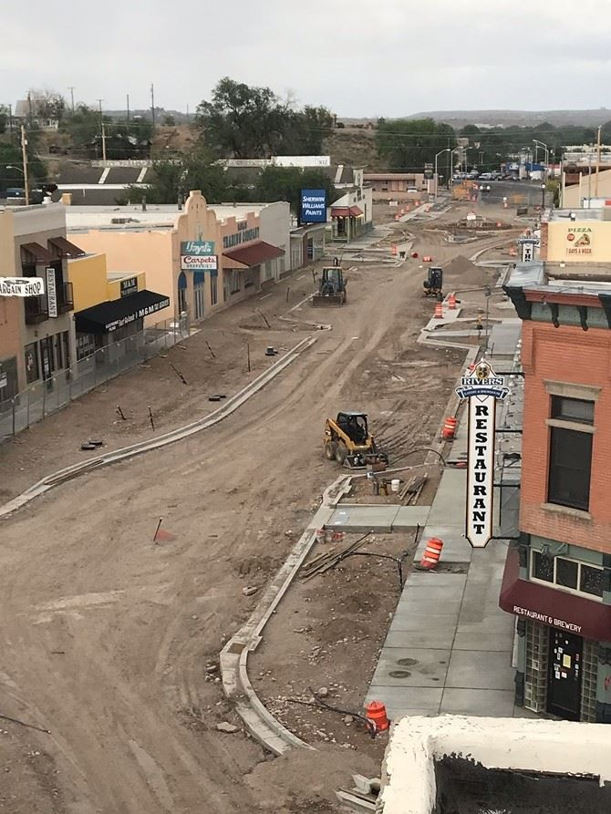 Aerial Photo of East Main Street Under Construction