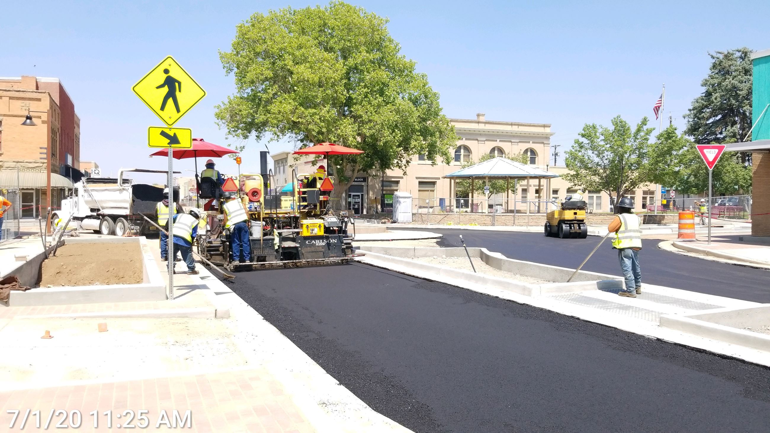 Asphalt placement at Orchard